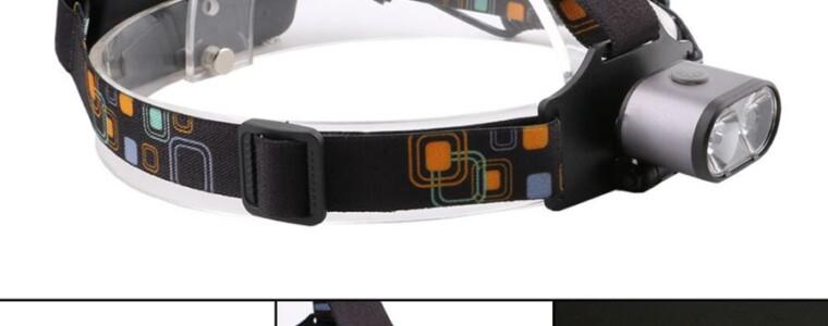 ZHAOYAO Portable T6 Waterproof Double Head 3-Mode Headlamp – Grey
