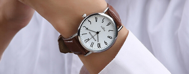 Kingnuos men 39 s pu leather band quartz wrist watch black silver rc toys hobbies for Kingnuos watch
