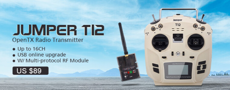 Jumper T12 OpenTX 16CH Radio Transmitter with JP4-in-1 Multi-protocol RF Module for Frsky JR Flysky 12th Anniversary