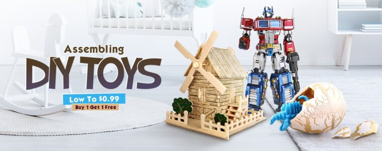 Collection Low To $0.99 For Assembling DIY Toys   12th Anniversary   UP TO 53% OFF