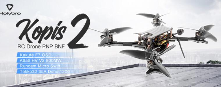 Holybro Kopis 2 FPV Racing RC Drone PNP BNF w/ Kakute F7 OSD Atlatl HV V2 800MW 35A Dshot1200 12th Anniversary
