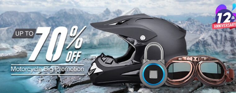 Collection Motorcycle Promotion For BG 12th Anniversary   UP TO 70% OFF