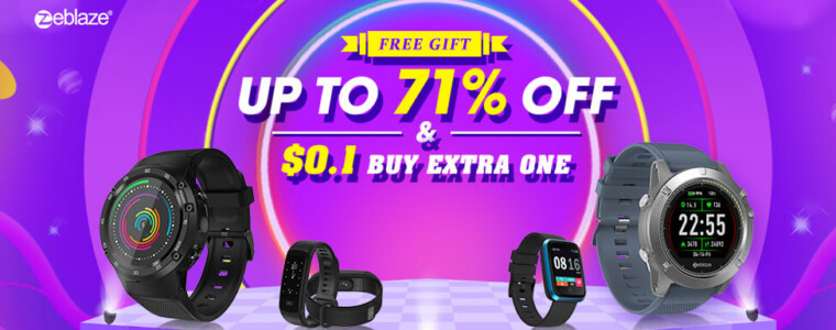 Zeblaze Brand Promotion Up To 50% OFF Buy One Get One Free  12th Anniversary  up to 75% off