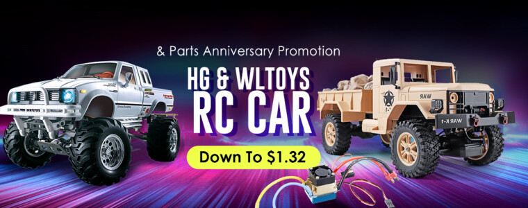 Collection HG & Wltoys Rc Car & Parts September Promotion   UP TO 55% OFF