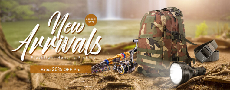 Collection New Arrivals Promo. for Flashlight Hunting Fishing   12th Anniversary  UP TO 47% OFF