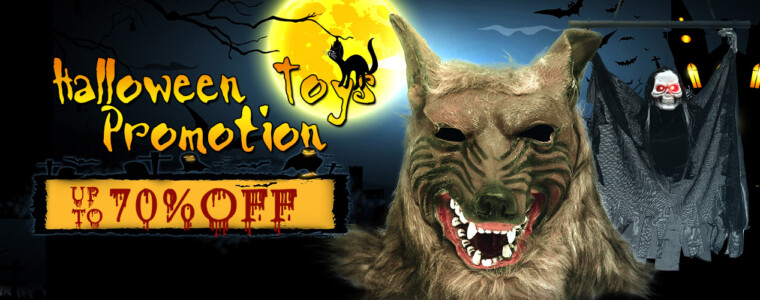 Collection Halloween Toys Promotion-Up to 70% Off, With 8% Off Coupon (Code:8halt)