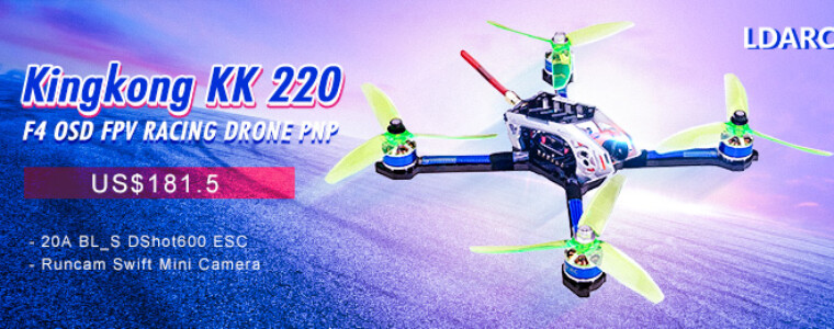 LDARC Kingkong KK 220 F4 OSD 20A BL_S FPV Racing Drone w/ 25/100/200mW VTX Runcam Swift Mini PNP        UP TO 6% OFF