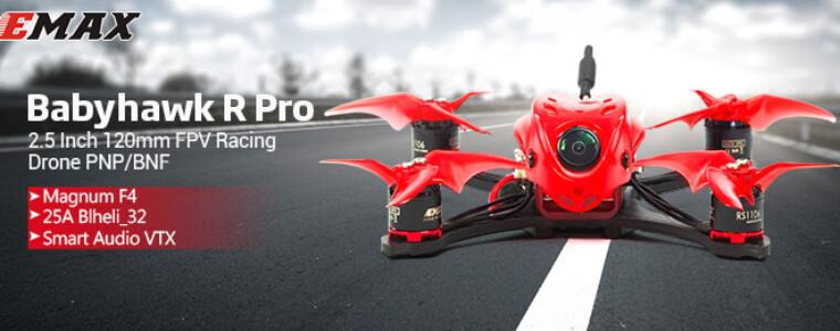 Emax Babyhawk R Pro 2.5 Inch 120mm FPV Racing Drone PNP/BNF Magnum F4 25A Blheli_32 Smart Audio VTX Sale