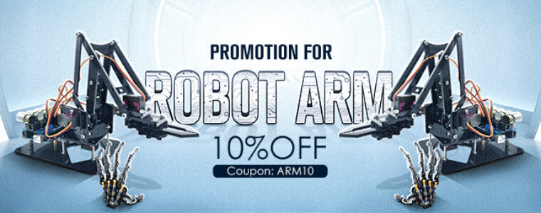 Collection 10% OFF FOR Robot Arm  UP TO 32% OFF