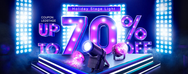 Collection LED Holiday Party Stage Light Promotion UP TO 70% Off