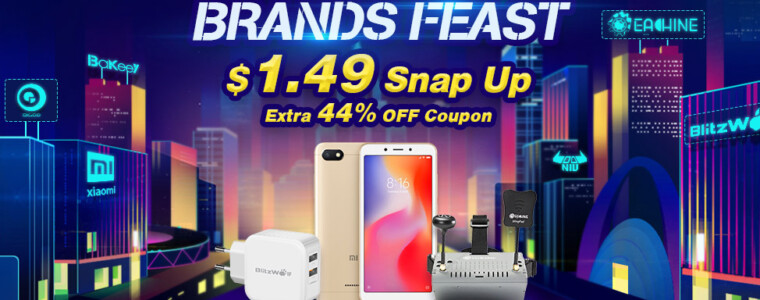 $1.49 Snap Up For BlitzWolf, Eachine, Xiaomi, Digoo, Daniu, Zeblaze at Brands Feast          UP TO 72% OFF