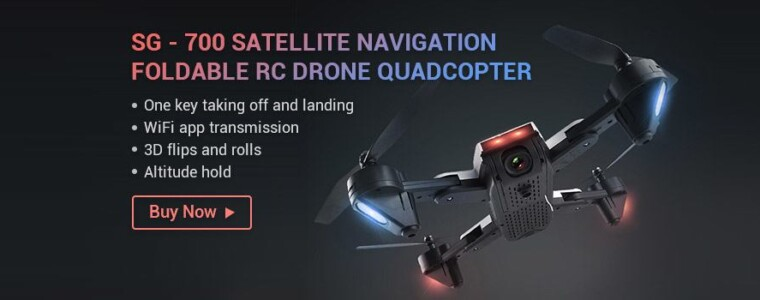 SG – 700 Satellite Navigation Foldable RC Drone Quadcopter – BLACK 720P WIFI FPV CAMERA with WiFi FPV Camera
