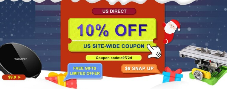 10% OFF Site-wide Coupon For US Warehouse Promotion